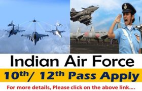 Indian Air Force (IAF) Recruitment – Various Group X & Y Posts – 10th / 12th Pass Apply Now