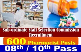 OSSSC Recruitment – 600 Pharmacist Posts – 08th / 10th Pass Apply Now