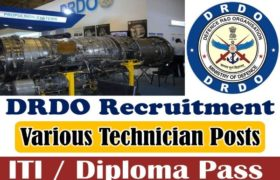 DRDO Recruitment – 62 Technician Posts – ITI / Diploma Pass Apply Now
