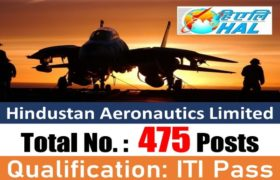 HAL Recruitment – 475 Fitter, Turner, Machinist & other Posts – ITI Pass Apply